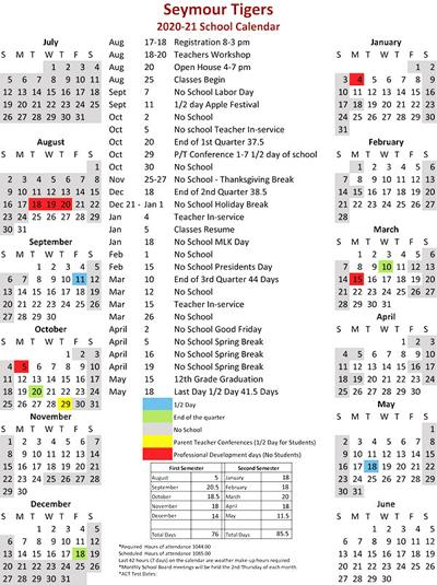 - Future R-II 2020-21 calendar set