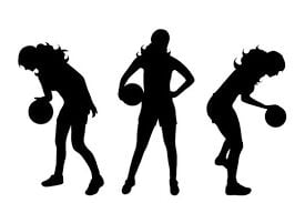 - girls basketball logo