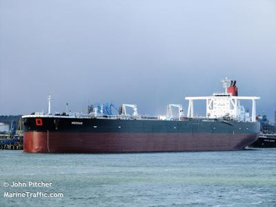 Undatedphotograph shows the Mesdar, a British-operated oil tanker in Fawley