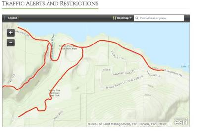 UPDATE | Section of South Lakeshore to be closed Monday while crews work 25 Mile Creek Fire