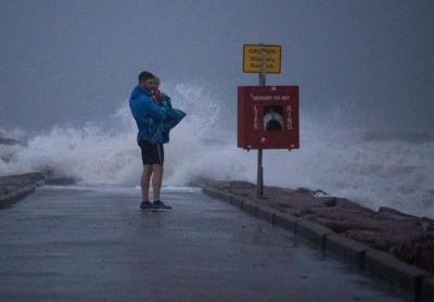 Tropical Storm Nicholas in Galveston, Texas