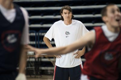 Moving on: Settled with his playing past, Adam Morrison returns to Gonzaga as an assistant coach