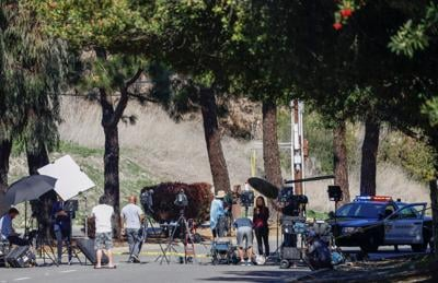 Vicinity of a scene where Tiger Woods involved in a car crash, near Los Angeles