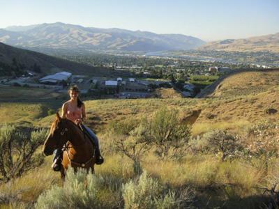 Alix on horse