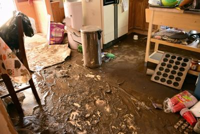 Flooding damages Waterville-area property
