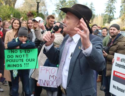 Sex-ed protest outside state Capitol