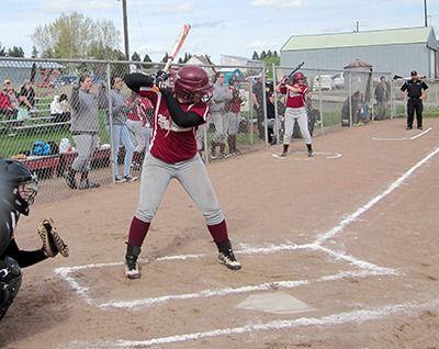 Shortstop Alyssa Hansen at bat. (Empire Press photo/James Robinson)
