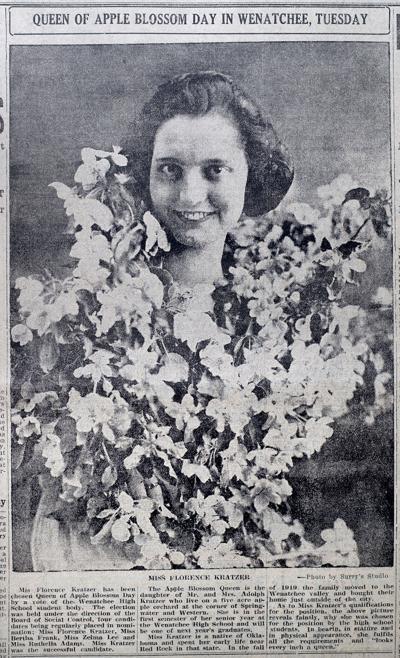 Apple Blossom Queen Florence Kratzer, 1921