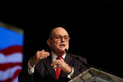 Rudolph Giuliani, former Mayor of New York City, delivers a speech during the 2018 Iran Uprising Summit in New York