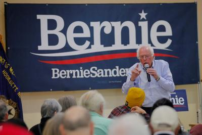 FILE PHOTO: Democratic 2020 U.S. presidential candidate Sanders speaks at a campaign stop in Hooksett