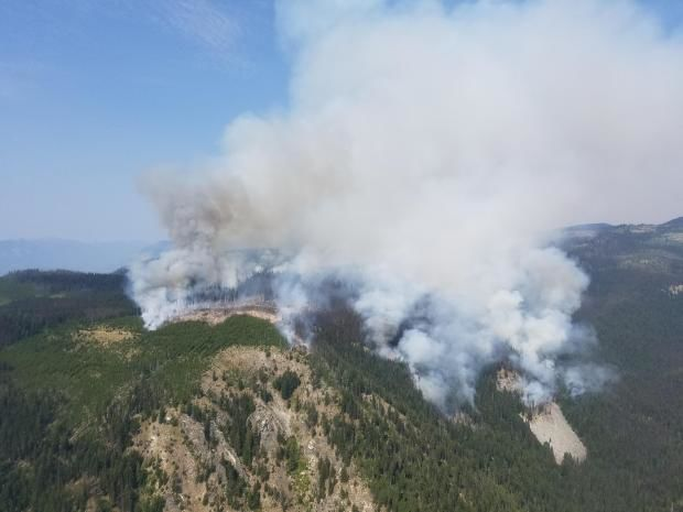 UPDATE | Level 2 evacuation notices on Cougar Creek Fire