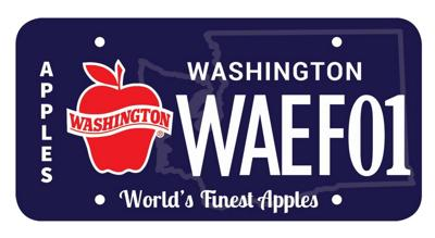 Successful first year for Washington apples license plates