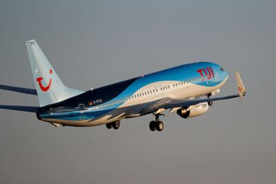 FILE PHOTO: A TUI fly Boeing jet takes off from Palma de Mallorca