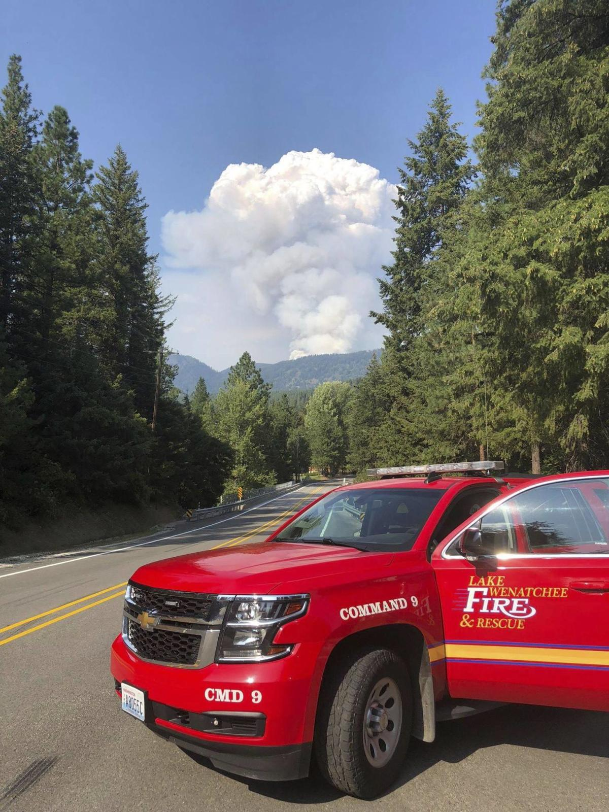 UPDATE | Cougar Creek Fire tops 3,600 acres, winds expected