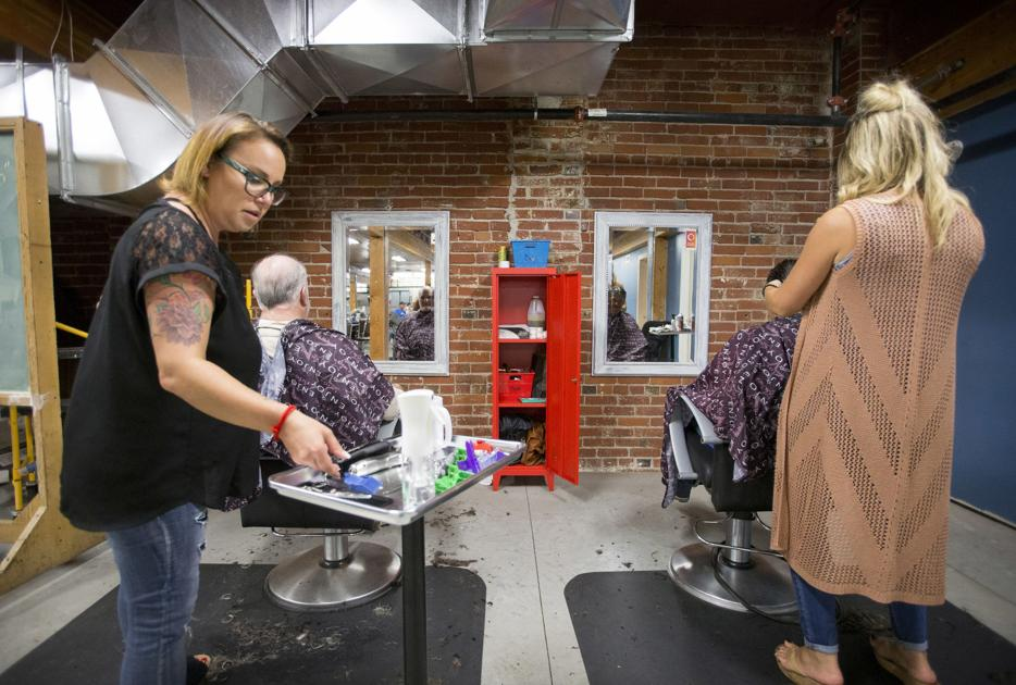 'Remembering where I came from': Salon owner gives back