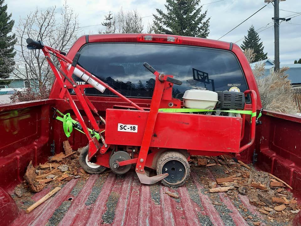 A sod cutter