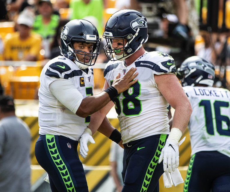 Seahawks tight end Will Dissly becoming a key red zone target for ...