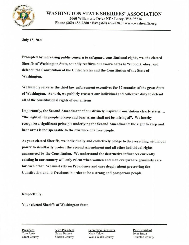 Sheriffs' statement