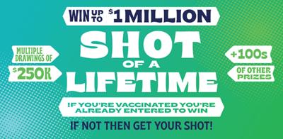 """Shot of a Lifetime"" WA lottery"