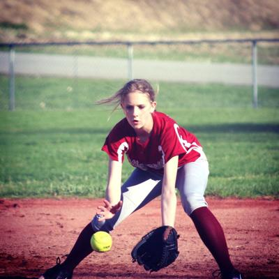 Provided Photo/ Heidi Gurnard   McKenna Gurnard catches a stray ground ball.