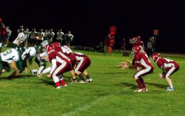 The Waterville/Mansfield offense takes on Liberty Bell. (Joel Harding photo)