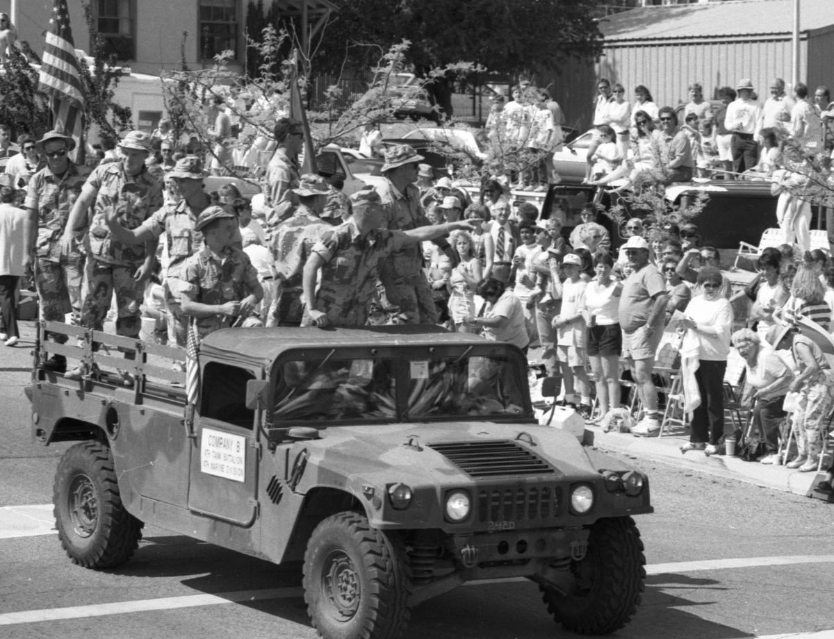 1990-1991: 'Ducky Derby' raises funds; Desert Storm vets in parade