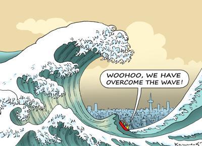 Covid wave