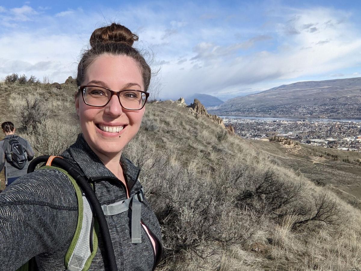 Sara Culp hikes Dry Gulch