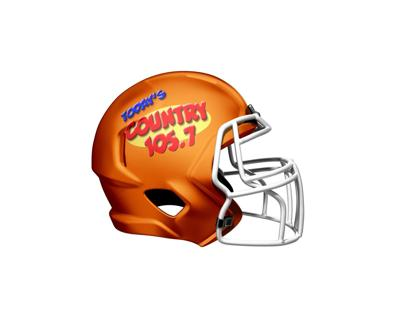 Today's County Game of the Week Football Helmet