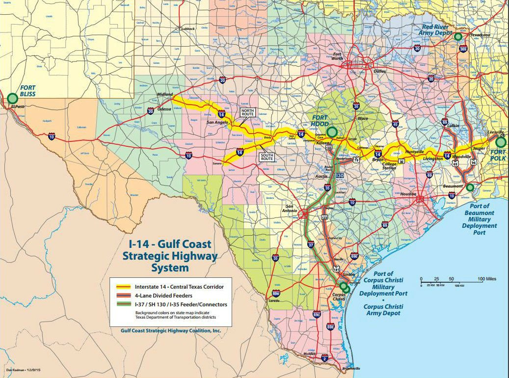 US 190 to become I14 in Texas Louisiana not part of current