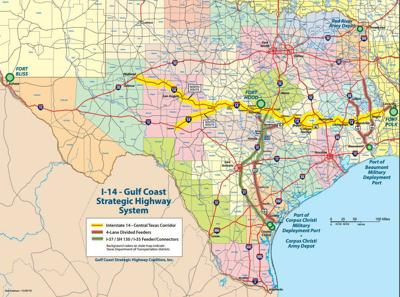 Highway 190 Texas Map U.S. 190 to become I 14 in Texas; Louisiana not part of current