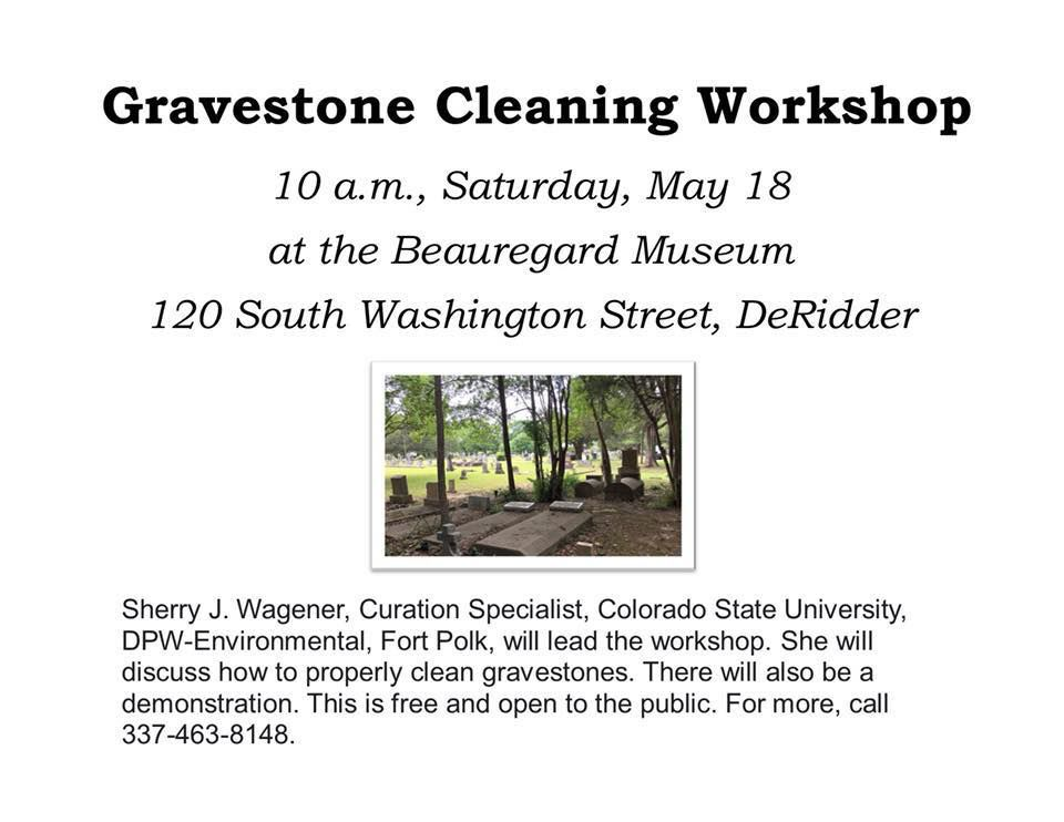Gravestone Cleaning Workshop