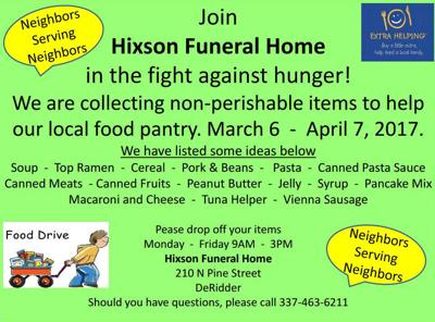 Hixson Funeral Home hosts community food drive | Life
