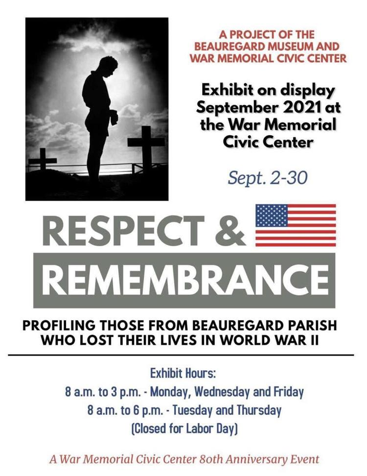 Respect & Remembrance at War Memorial Civic Center