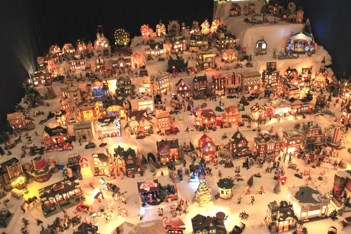 the beautiful miniature christmas village at 143 powell drive in leesville is aglow each night for the christmas season - Lights For Christmas Village
