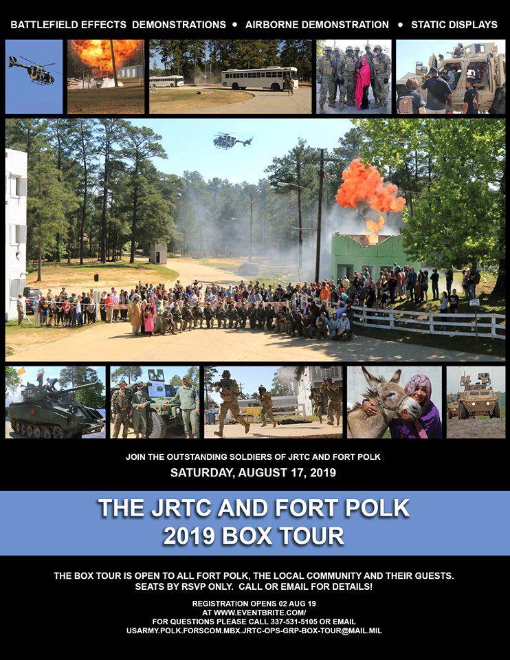 JRTC and Ft. Polk 2019 Box Tour
