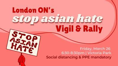 Stop Asian Hate vigil poster