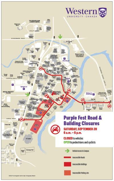 Western road closure for Purplefest