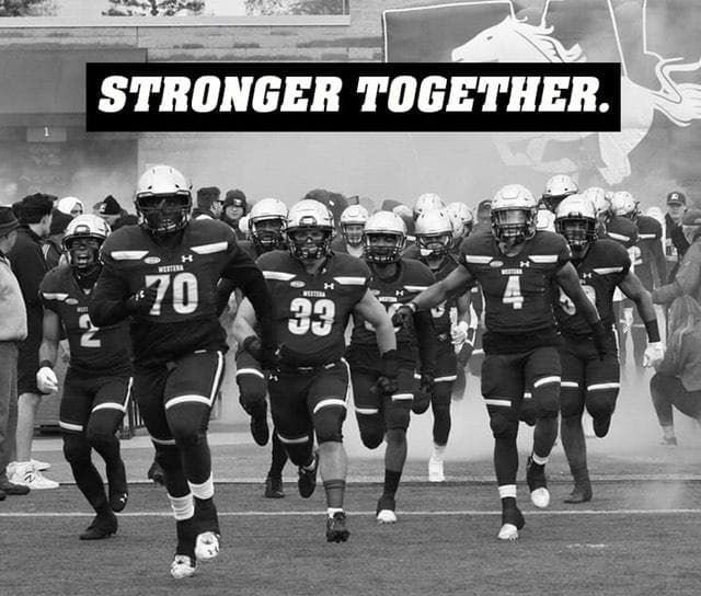 Mustangs Football - Stronger Together BLM