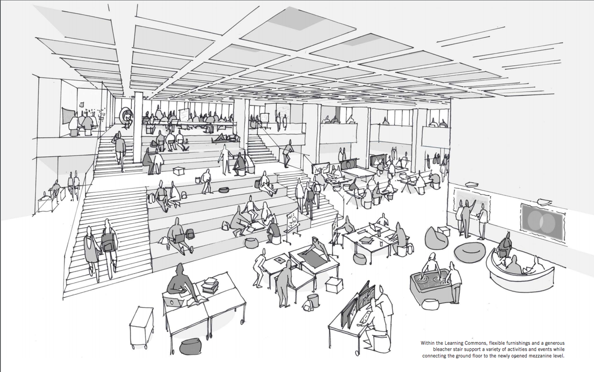 D.B. Weldon Library revitalization drawing (Image)