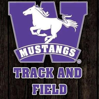 Mustangs track and field logo