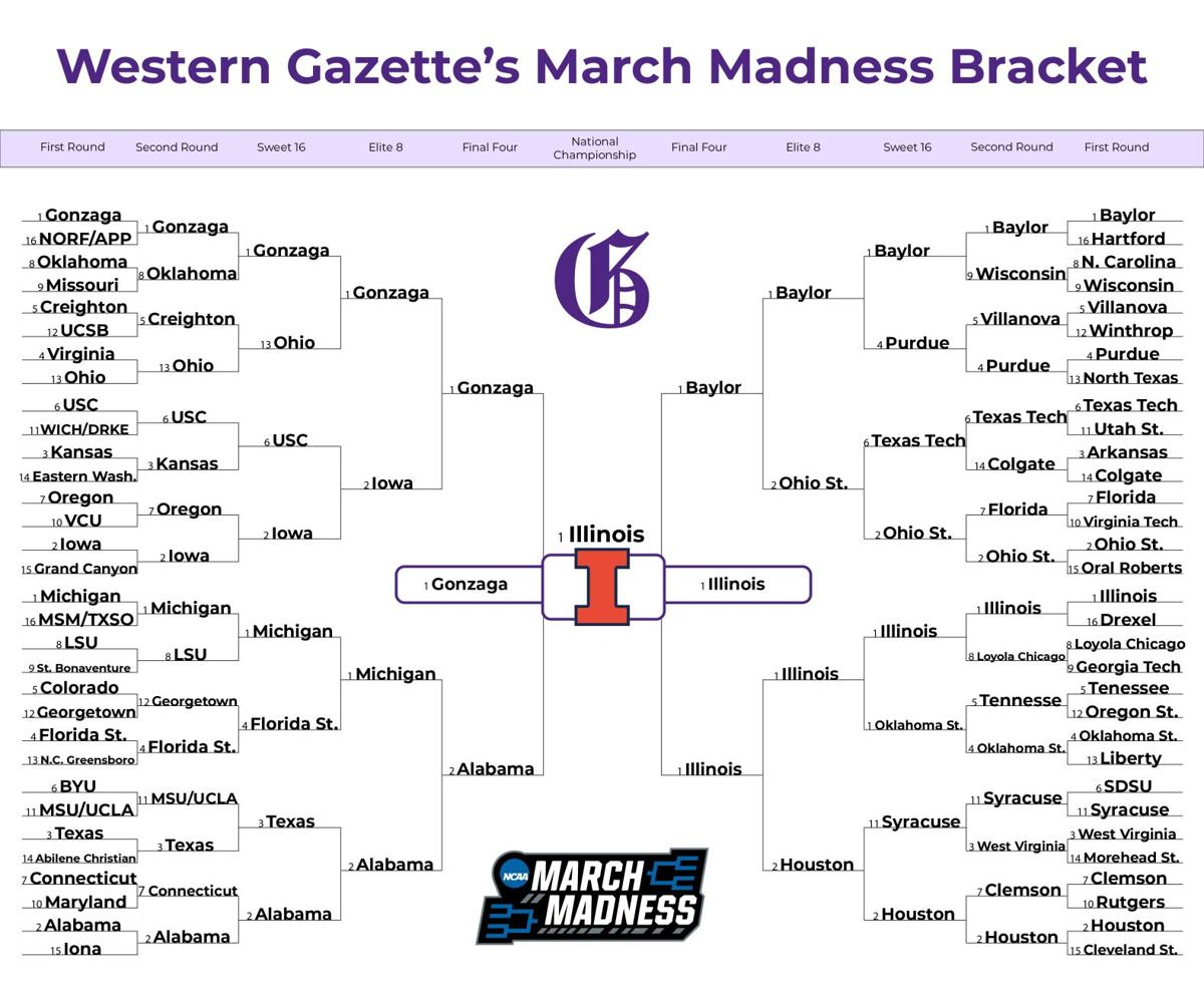 Western Gazette's March Madness Bracket Graphic (png)