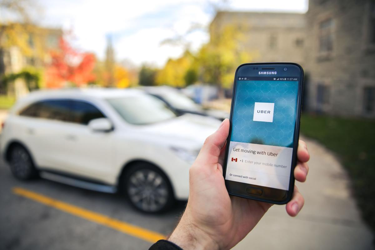 Uber App Stock Photo