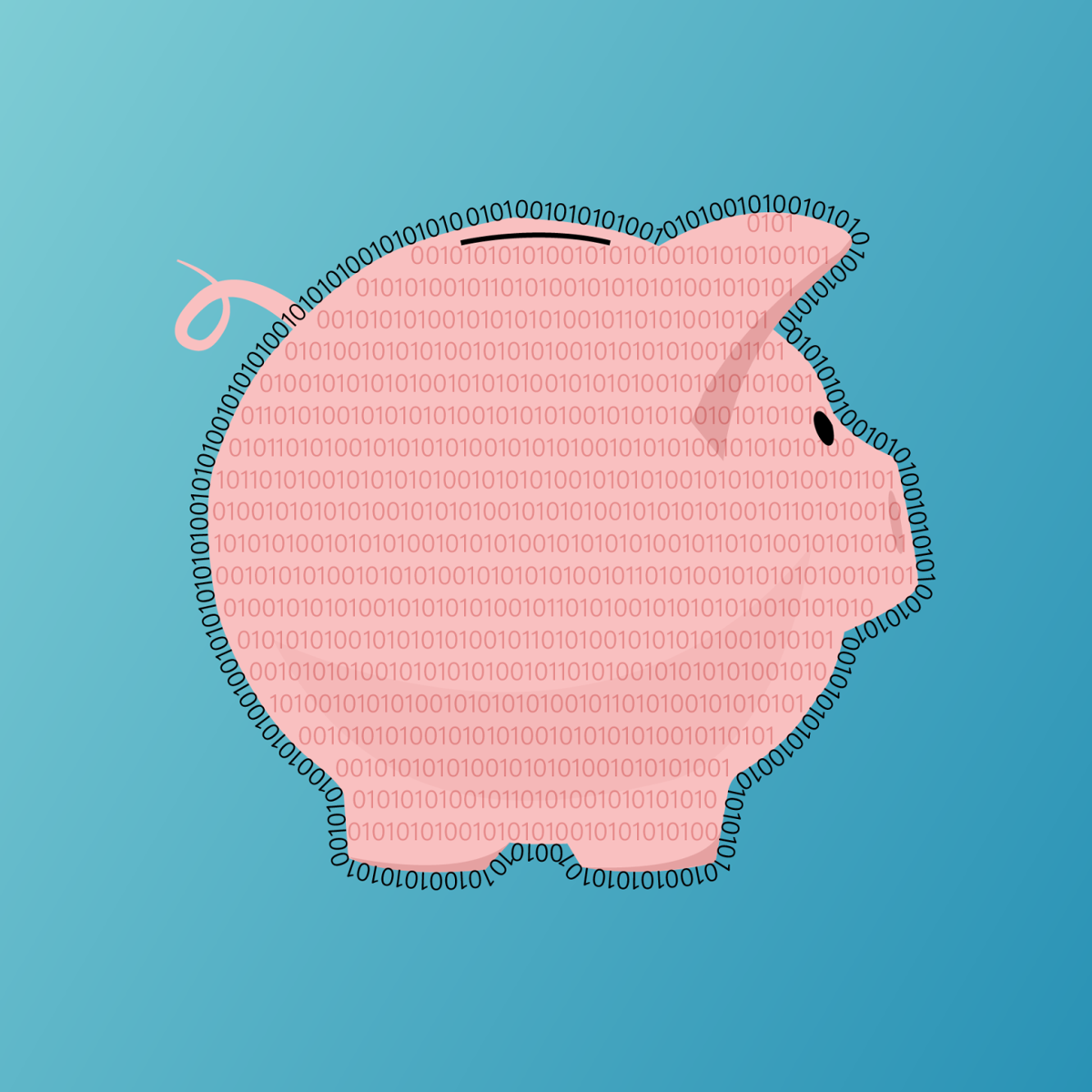 piggy bank cryptocurrency graphic