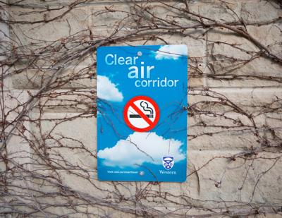 Clean Air Corridor sign (Photo)