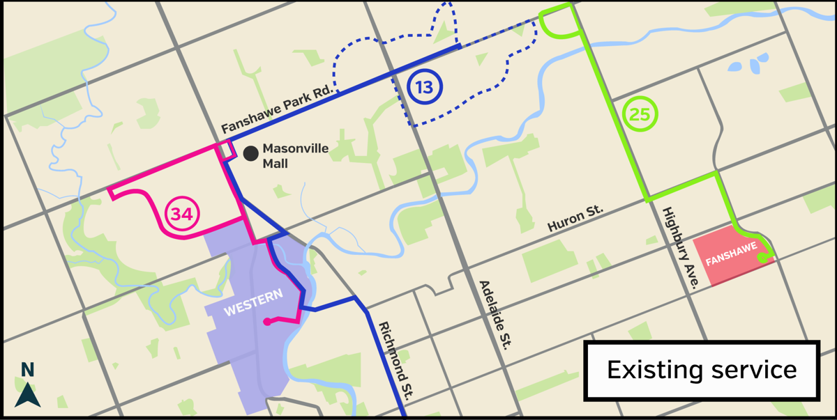 bus changes existing service graphic