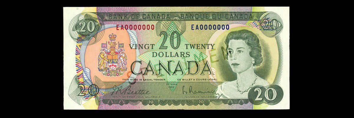 $20 Note from 1969-79