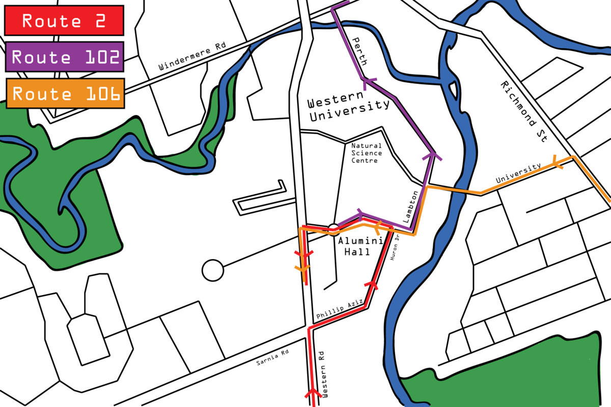 Bus Route 2, 102 and 106