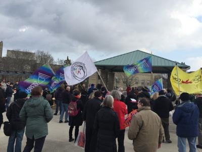 PSAC rally protest