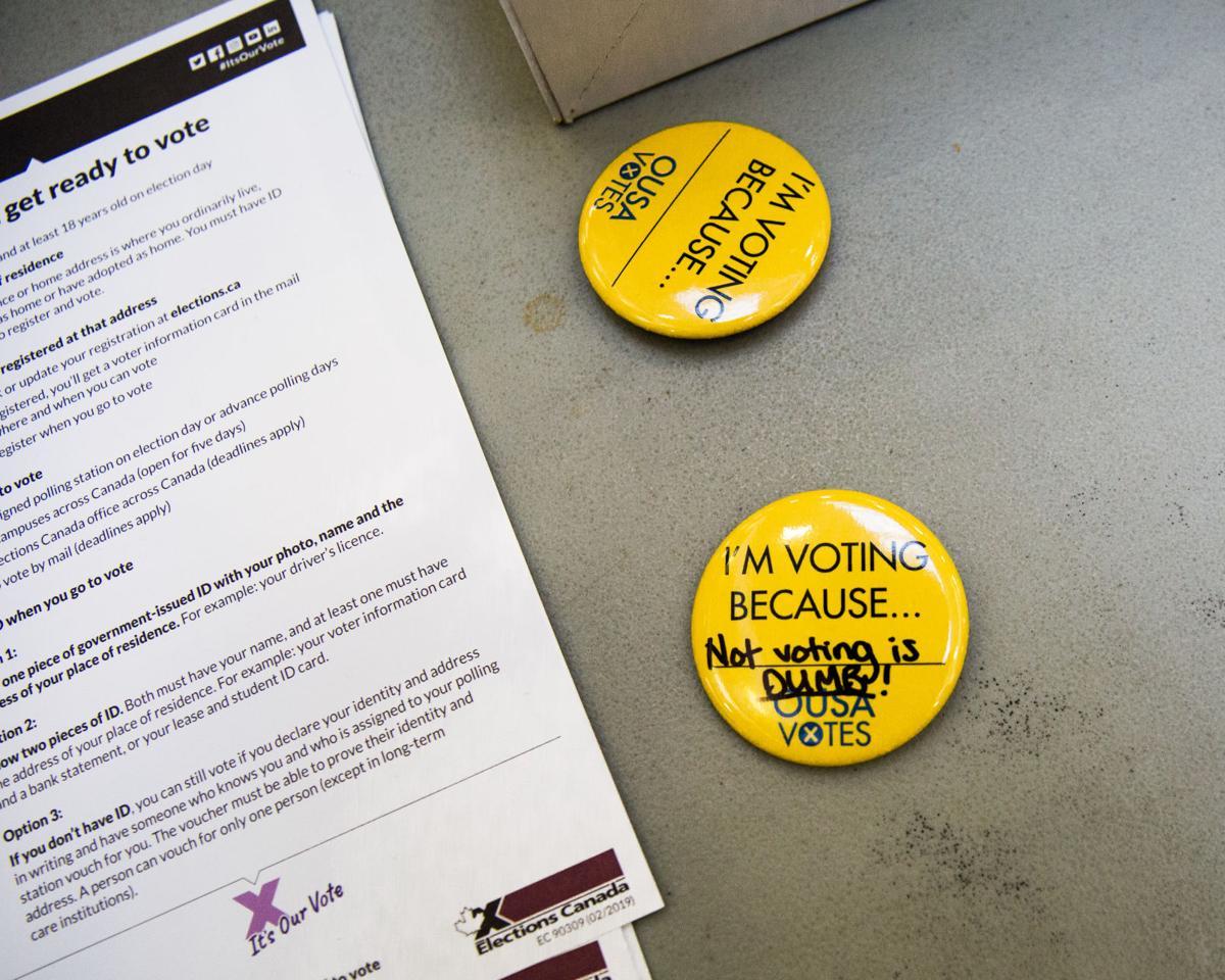 Vote button in atrium